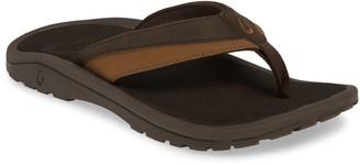 OluKai Wehi 'Ohana Koa Flip Flop