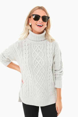 Lilac Fitzgerald Cableknit Sweater