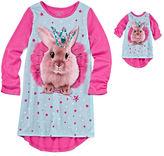 Asstd National Brand Komar Kids Princess Bunny Sleep Gown with Matching Doll Outfit - Girls 7-16