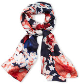 Vince Camuto Falling Florals Silk Scarf