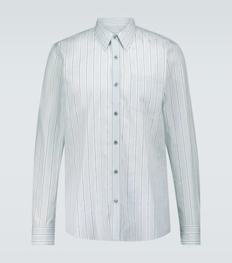 Dries Van Noten Long-sleeved cotton poplin shirt