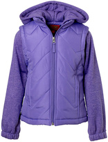 Pink Platinum Lilac Puffer Jacket - Toddler & Girls