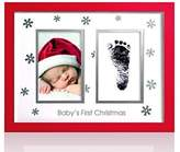 Pearhead Pear Head Babyprint Christmas Frame with Clean Touch Ink Pad Included by