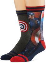 Marvel Captain America 2-pk. Sublimated Crew Socks
