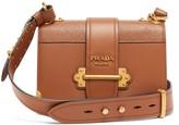 Prada Cahier Mini Saffiano-leather Cross-body Bag - Womens - Tan