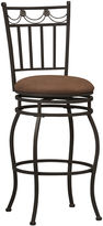 Linon Swag Swivel Barstool with Back