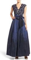 Eliza J Lace & Taffeta Gown (Regular & Petite)