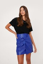 Thumbnail for your product : Nasty Gal Womens Premium Pu Knot Mini Skirt - Blue - 12