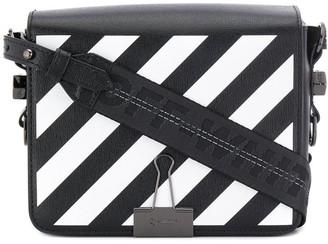 Off-White Binder Clip Striped Bag