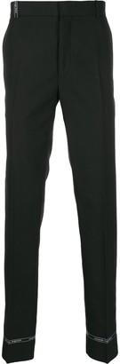 Alexander McQueen Logo Loop Tailored Trousers