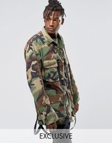 Reclaimed Vintage BDC Camo Jacket With Straps