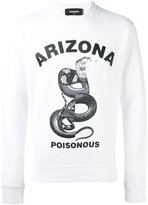 DSQUARED2 Arizona snake printed sweatshirt - men - Cotton - M