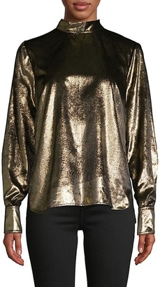 Frame Metallic Back-Tie Shirt