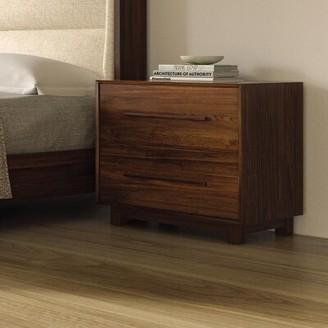 Sloane 2 Drawer Standard Dresser Copeland Furniture Frame Color: Natural Walnut
