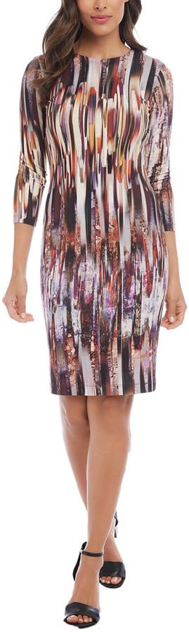 Karen Kane 3/4-Sleeve Sheath Dress