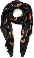 Gregory Ladner Butterfly Print Square Scarf