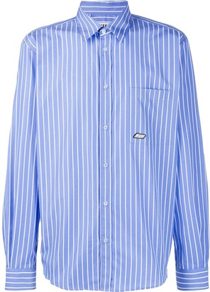 MSGM striped causal shirt