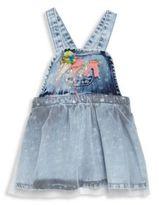 Billieblush Baby's Denim Overall Dress