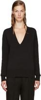 Nomia Black Oversized V-neck Sweater