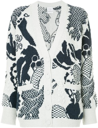 Barrie Stencil Garden cashmere cardigan