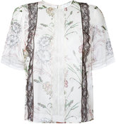 Giambattista Valli lace-detail floral shirt