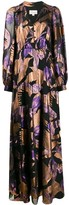 Temperley London bird motif long dress