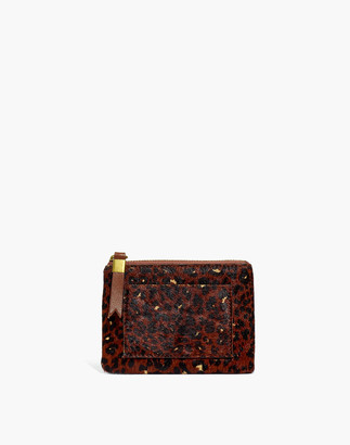 Madewell The Leather Pocket Pouch Wallet: Painted Leopard Calf Hair Edition