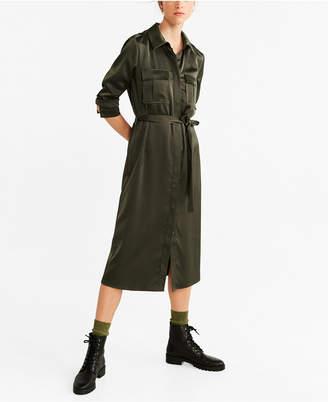 MANGO Pockets Shirt Dress