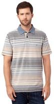 Mantaray Big And Tall Blue Birdseye Pique Striped Polo Shirt