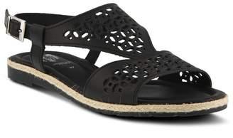 Spring Step Creshia Leather Flat Espadrille Sandal