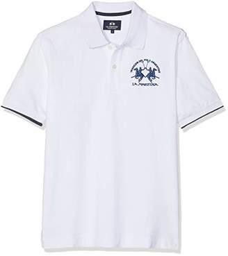 La Martina Men's Man Polo S/s Piquet Str Shirt, ( Heather Grey 01002)