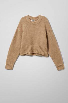 Weekday Kea Sweater - Beige