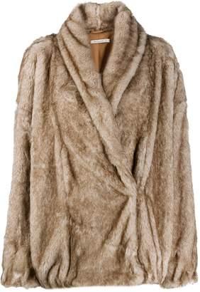 Mes Demoiselles faux fur wrap coat