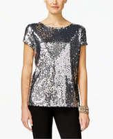 INC International Concepts Sequined Top, Only at Macy's