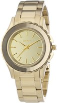 DKNY ny2116 34mm Stainless Steel Case Tone Stainless Steel Mineral Women's Watch
