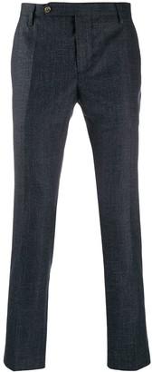 Entre Amis cross hatch print trousers