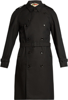 Gucci Bee-embroidered cotton-drill trench coat