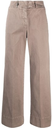 Peserico High-Rise Cropped Trousers