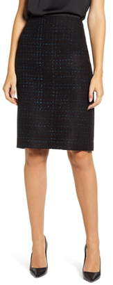 Anne Klein Check Tweed Pencil Skirt