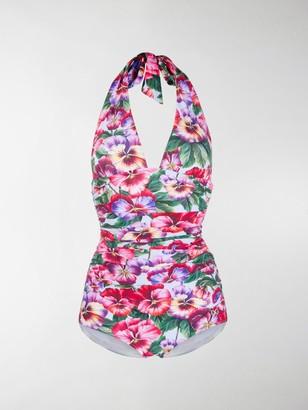 Dolce & Gabbana Violet print swimsuit