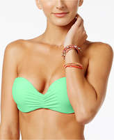 California Waves Strappy Bandeau Bikini Top