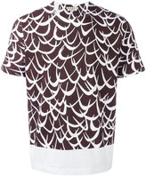Marni Flutter print T-shirt - men - Cotton - 46