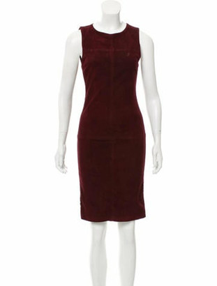Alice + Olivia Suede Knee-Length Dress