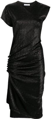 Paco Rabanne Lurex Jersey Draped Dress