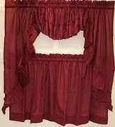 Cambridge Silversmiths Sally Scoop Insert Valance-Burgundy