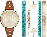 Arizona Womens Brown 7-pc. Watch Boxed Set-Fmdarz159