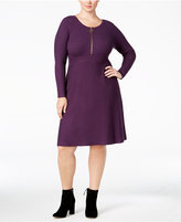 INC International Concepts Plus Size Fit & Flare Sweater Dress, Only at Macy's