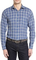 Robert Talbott Men's Estate Classic Fit Linen Sport Shirt