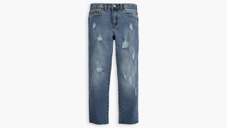 Levi's Little Girls 4-6x High Rise Ankle Straight Jeans