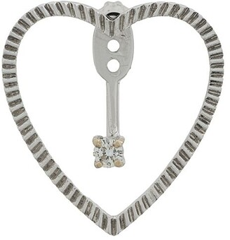 Yvonne Léon 18kt gold and diamond Heart Earrings